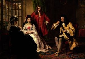 William Powell Frith - herr foppington Berichtend seine abenteuer