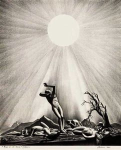Rockwell Kent - Solar Flare up