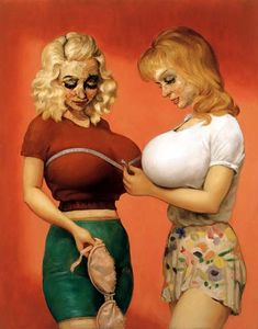 John Currin - Die BH-Shop 2 (1997)