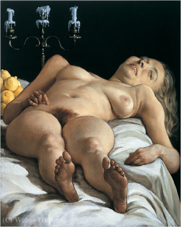 Nudeonatable (2001) von John Currin