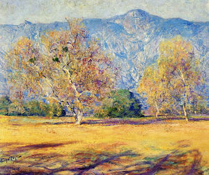 Guy Rose - Die Platanen, Pasadena, (1918)