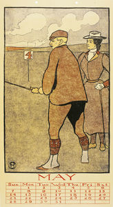 Edward Penfield - May (Golf Kalender) , (45 x 24 cm) (1899)