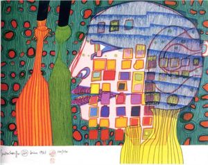 Friedensreich Hundertwasser - Shadow of the Stars