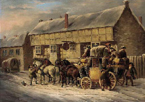 John Charles Maggs - Outside The George Inn, Bad