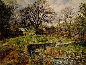 James Mcintosh Patrick - Glamis Dorf im April