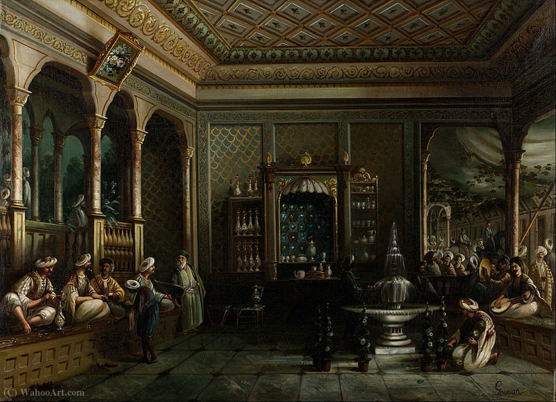 Ein Coffee House in Tophane von Thomas Allom