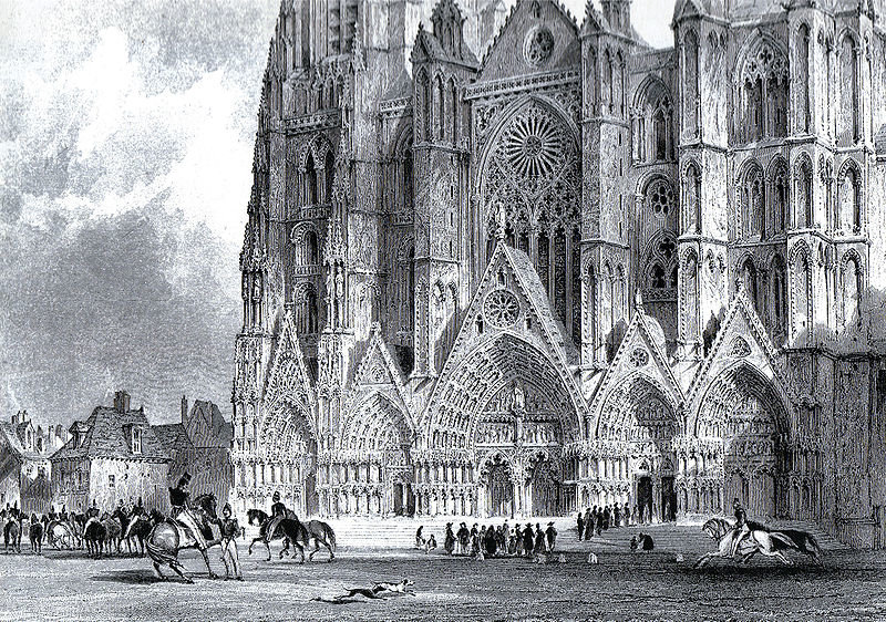 Kathedrale von Bourges von Thomas Allom