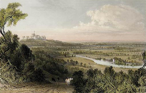 Blick von Coopers Hill von Thomas Allom (1804-1872, United Kingdom)