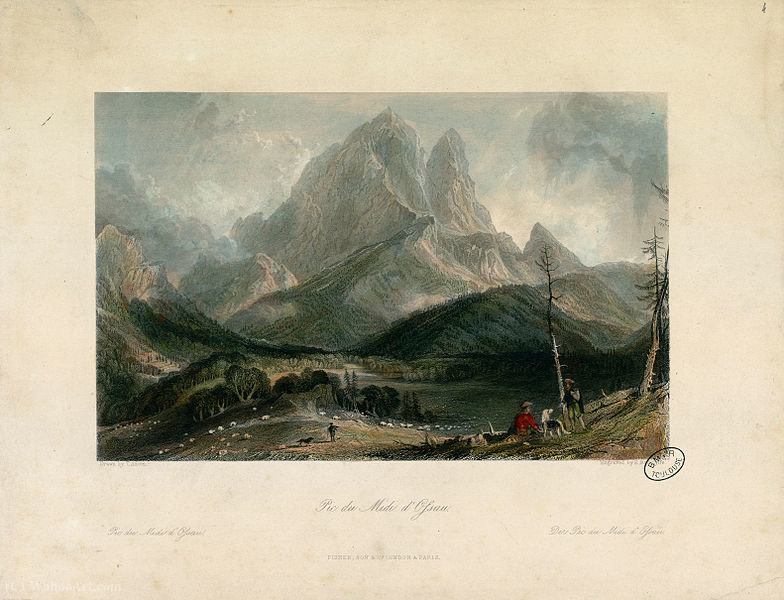 Pic du Midi d Ossau von Thomas Allom (1804-1872, United Kingdom)