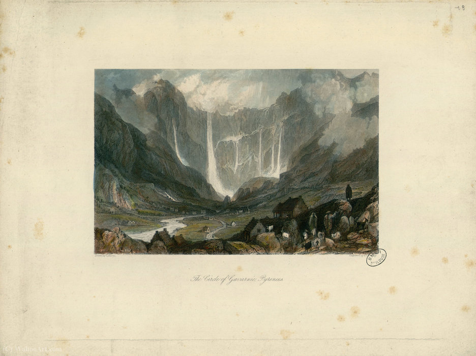 Der Kreis der Gavarnie von Thomas Allom (1804-1872, United Kingdom)