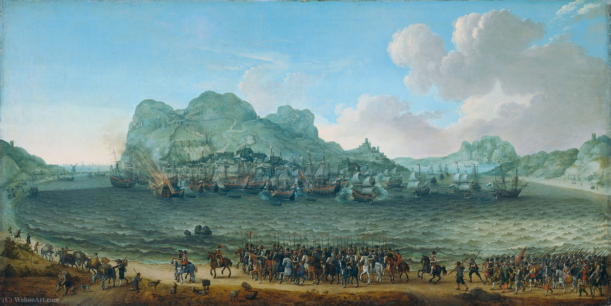 Dutch Sieg in der Schlacht von Gibraltar von Adam Willaerts (1577-1664, United Kingdom)