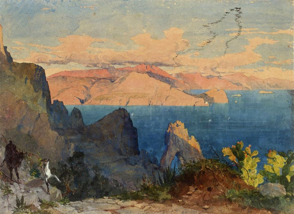 Capri von Alfred Downing Fripp (1822-1895, United Kingdom)