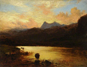 Alfred Walter Williams - Landschaft, Langdale Pikes, Cumbria