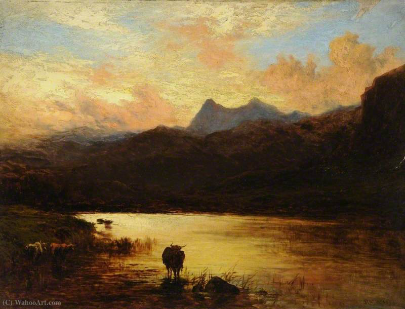 Landschaft, Langdale Pikes, Cumbria von Alfred Walter Williams (1824-1905, United Kingdom) | WahooArt.com