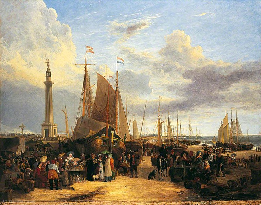 Dutch Messe am Yarmouth Beach, Norfolk von George Vincent (1796-1831, United Kingdom)