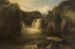 James Burrell Smith - Wasserfall