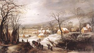 Joos De Momper The Younger - Winterlandschaft