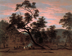 John Glover - Ein corroboree der Eingeborenen in Mills Plains