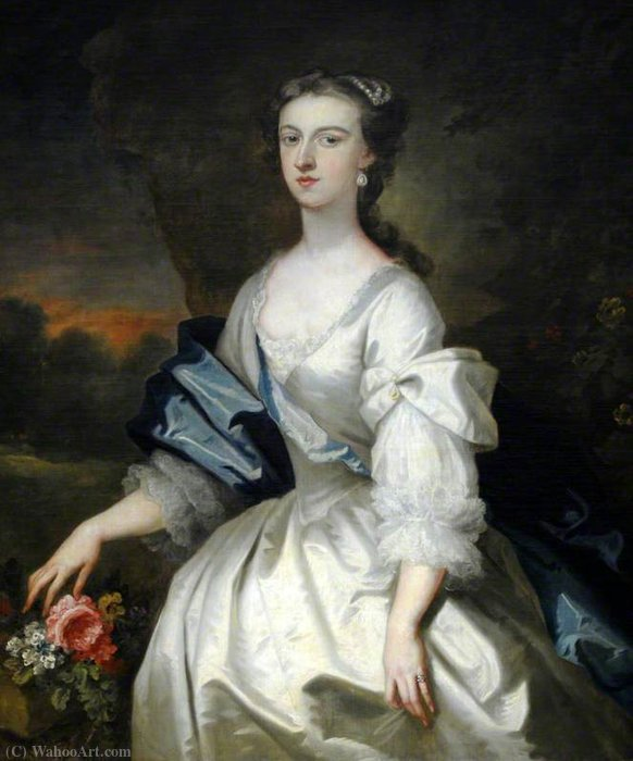 Catherine Harpur (d.1740), Dame gough von John Vanderbank (1694-1739, United Kingdom)