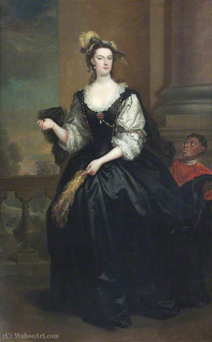 Die ehrenvolle Anne Howard (d.1775), Dame yonge von John Vanderbank (1694-1739, United Kingdom)