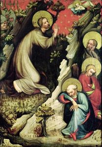 Master Of The Trebon Altarpiece - Todesangst im Garten
