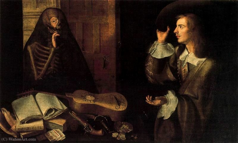 Der Gentleman and Death von Pedro De Camprobín (1605-1674, Spain) | WahooArt.com