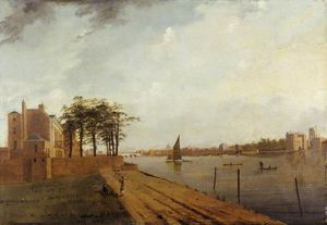 Samuel Scott - Lambeth Palace von Millbank, London