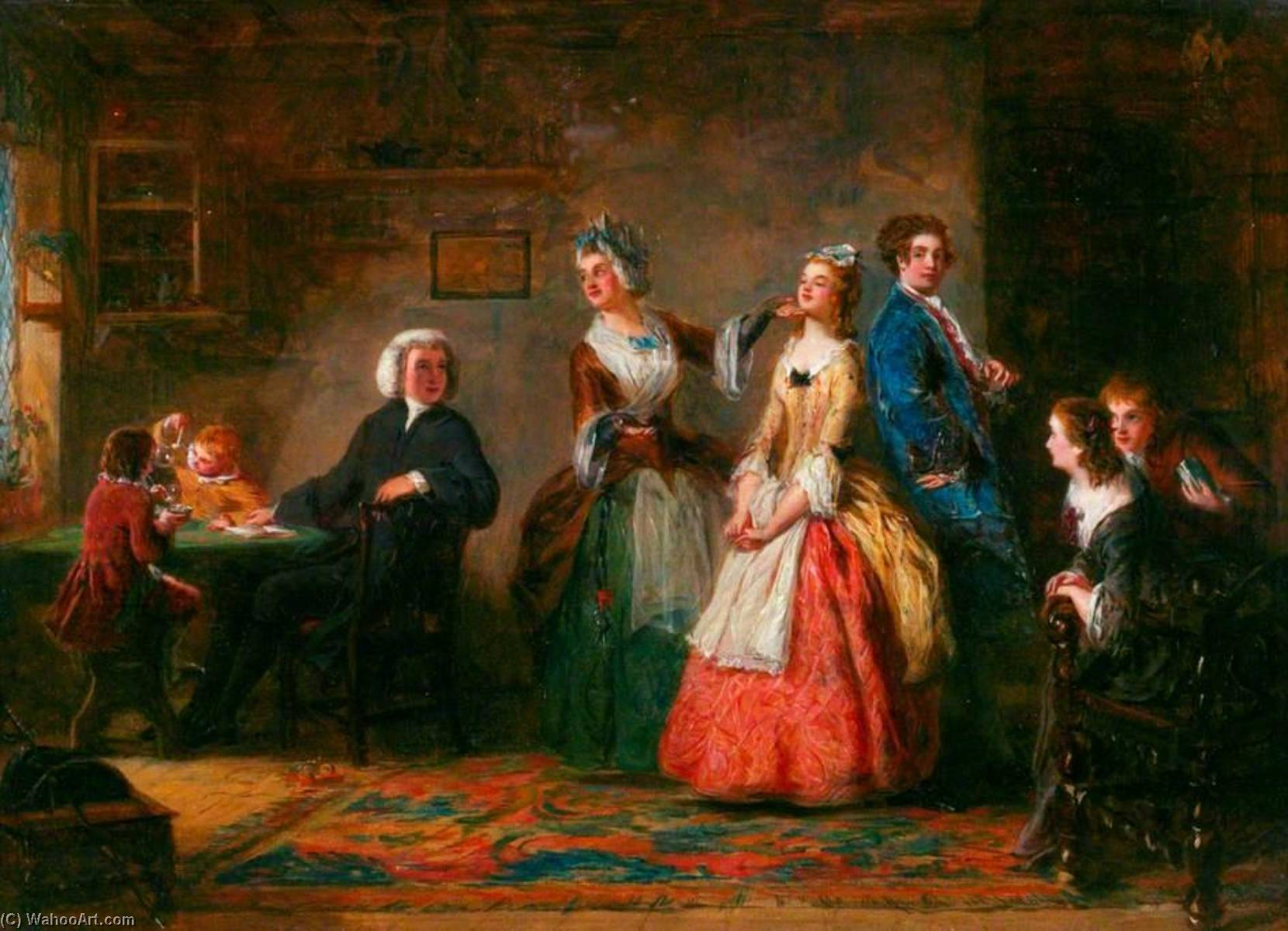 Mess Höhen ( von oliver Goldsmith`s `The Kaplan von Wakefield` ), 1842 von William Powell Frith (1819-1909, United Kingdom) | Malerei Kopie | WahooArt.com