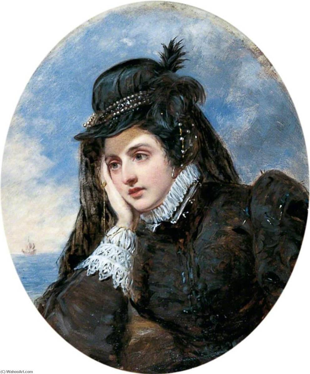 L'adieu von marie stuart, öl auf leinwand von William Powell Frith (1819-1909, United Kingdom)