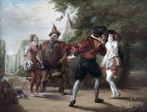 William Powell Frith - das duell Szene aus 'Twelfth Night' von william shakespeare