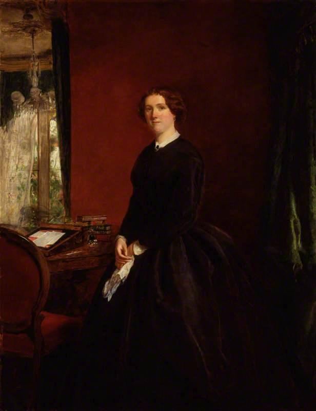 Maria Elisabeth Maxwell , geb. Braddon, öl auf leinwand von William Powell Frith (1819-1909, United Kingdom)