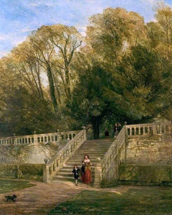 Haddon Halle Schritte , Derbyshire von William Powell Frith (1819-1909, United Kingdom) | Berühmte Gemälde Reproduktionen | WahooArt.com