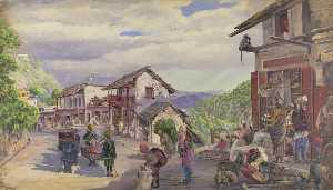 Marianne North - 'The Basar Musoori , 8th Kann 1878'