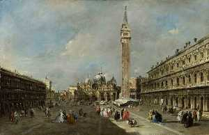 Francesco Lazzaro Guardi - die piazza san marco , Venedig