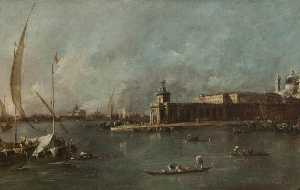 Francesco Lazzaro Guardi - Die Dogana Venedig