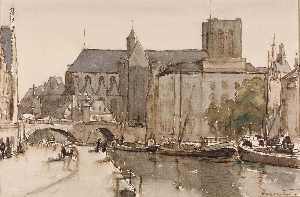 Herman Armour Webster - Gent , saint michel , Abend