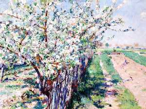 William Blair Bruce - Obstbaumbestand an  blüte  Grez