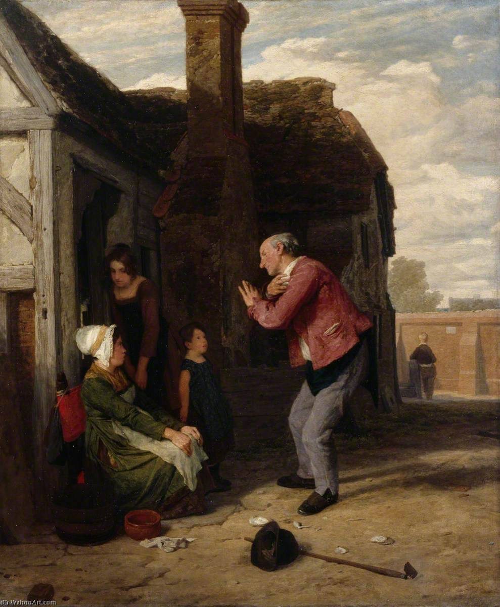der dorf Possenreißer , öl auf leinwand von William Mulready The Younger (1786-1863, Ireland)