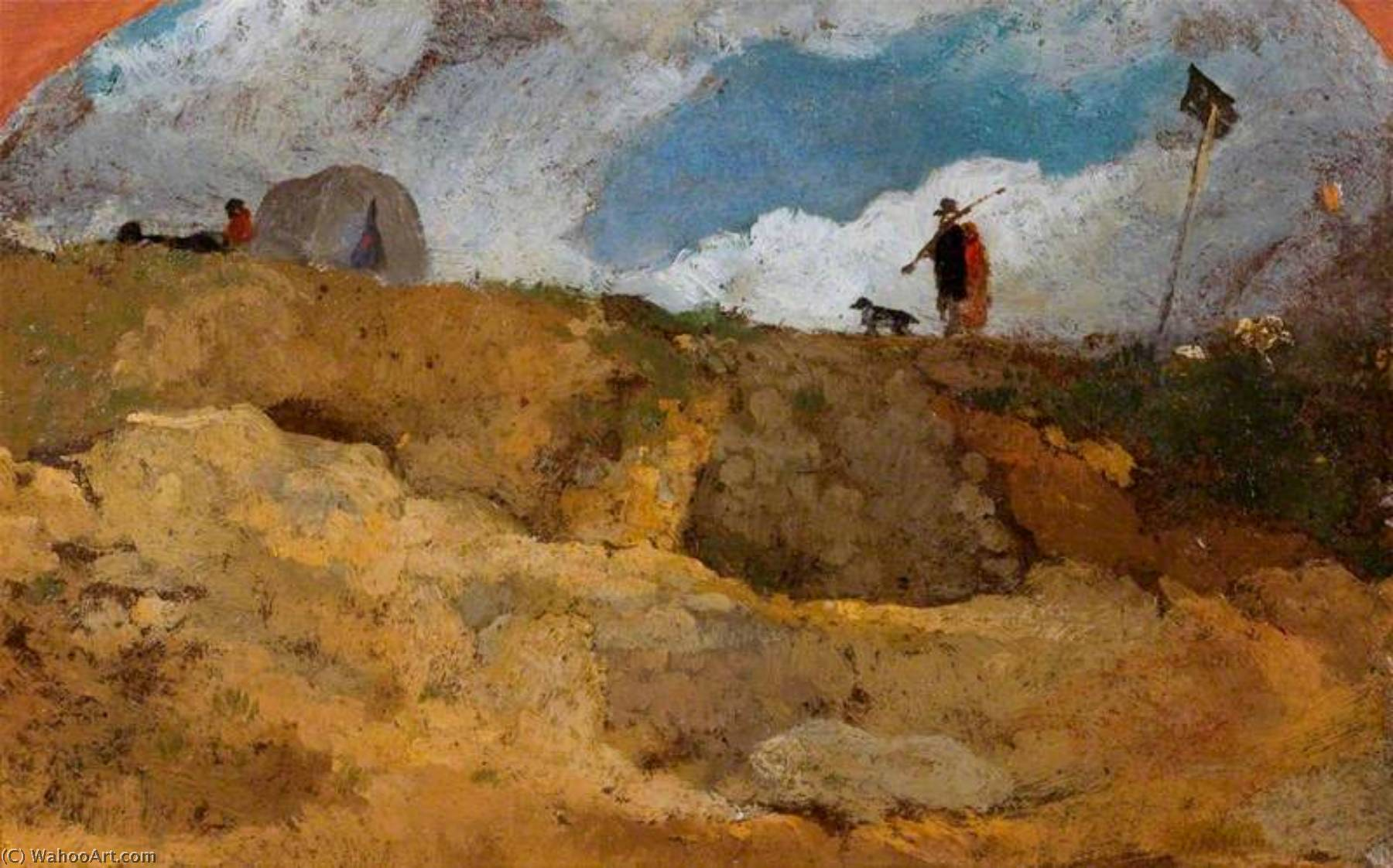 Hampstead Heide, öl von William Mulready The Younger (1786-1863, Ireland)
