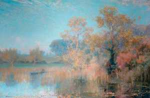 Alfred East - Lakeside Landschaft