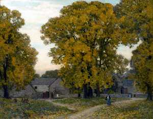 Alfred East - Herbst in Gloucestershire