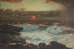 Albert Julius Olsson - sonnenuntergang am Lands End
