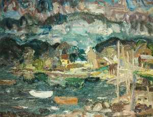 William George Gillies - dämmerung bei letterfearn