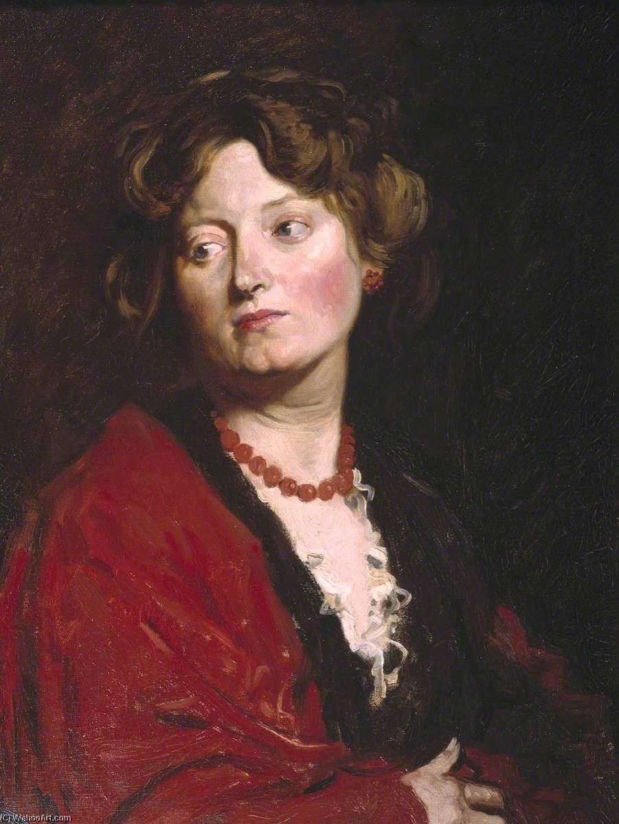 Anita, öl auf leinwand von William Newenham Montague Orpen (1878-1931, Ireland)