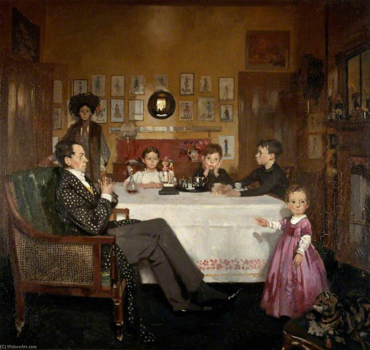Ein Bloomsbury Familie, öl auf leinwand von William Newenham Montague Orpen (1878-1931, Ireland)