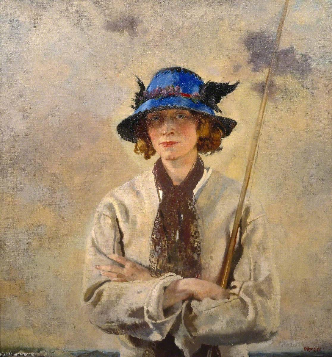Der Angler, 1912 von William Newenham Montague Orpen (1878-1931, Ireland) | Kunst-Wiedergabe | WahooArt.com