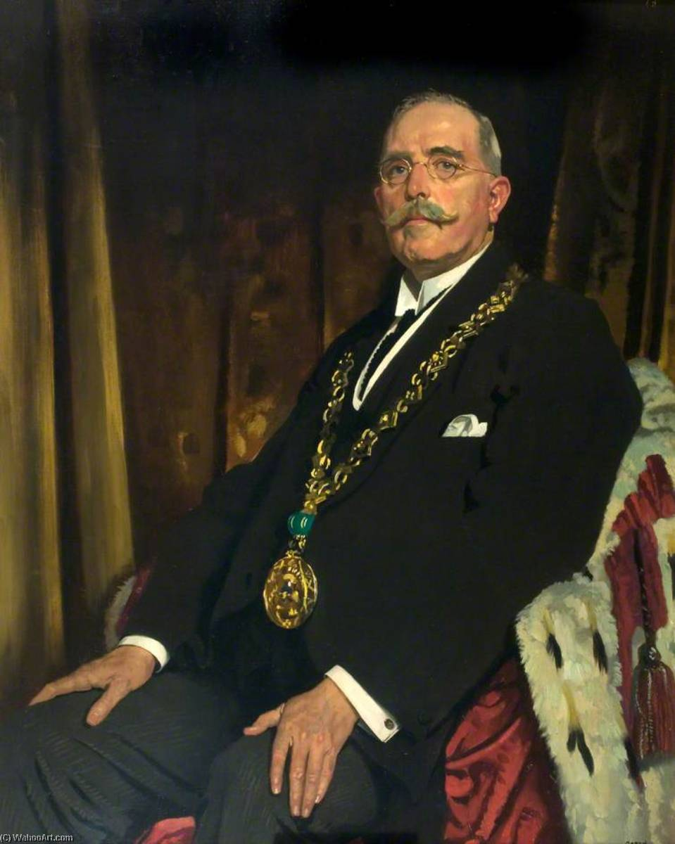 sir alexander spence ( 1866–1939 ) , lord provost von dundee ( 1920–1923 ), öl auf leinwand von William Newenham Montague Orpen (1878-1931, Ireland)