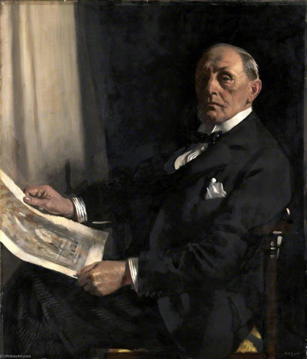 sir walter tapper ( 1861–1935 ) , RA , PRIBA, 1929 von William Newenham Montague Orpen (1878-1931, Ireland) | Kunstdrucke Auf Leinwand | WahooArt.com