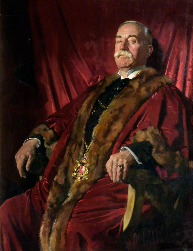 sir william meff , lord provost von aberdeen ( 1911–1925 ), öl auf leinwand von William Newenham Montague Orpen (1878-1931, Ireland)