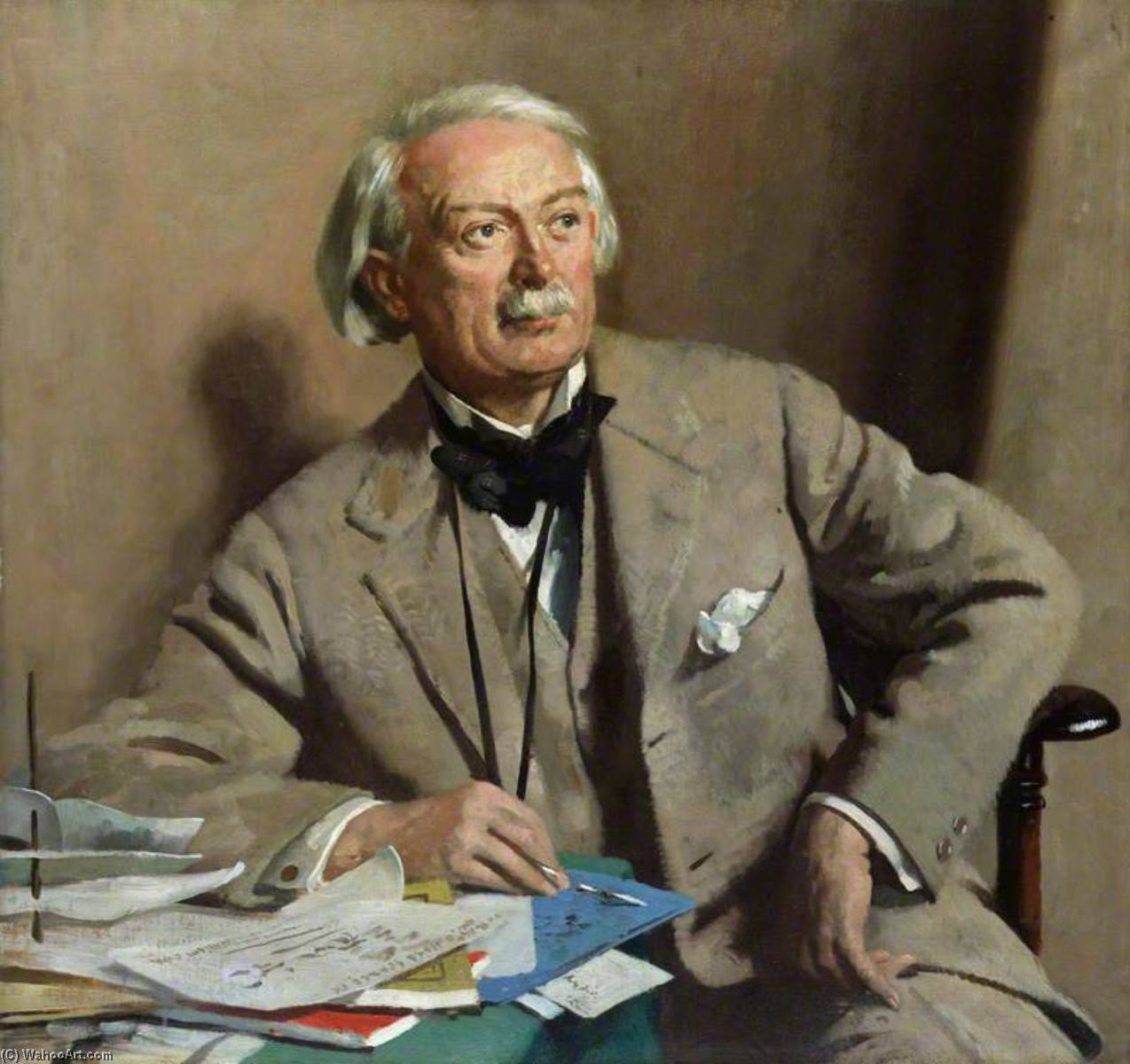 david lloyd george , 1st Graf lloyd george, öl auf leinwand von William Newenham Montague Orpen (1878-1931, Ireland)